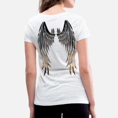 Wing Wings wings - Women's Organic V-Neck T-Shirt