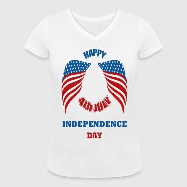 4th July America Independence Day - T-shirt bio col V Stanley & Stella Femme