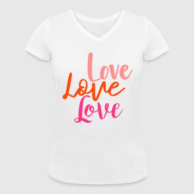 amour amour amour - T-shirt bio col V Stanley & Stella Femme