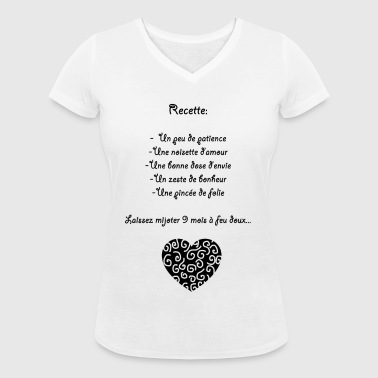 grossesse culinaire - T-shirt bio col V Stanley & Stella Femme