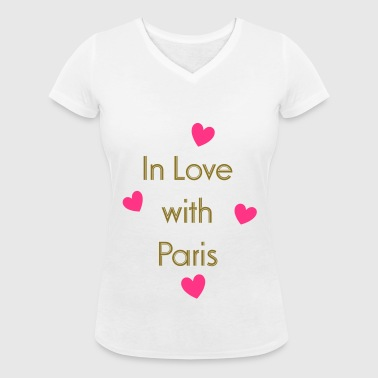 In Love With Paris - Vrouwen bio T-shirt met V-hals van Stanley & Stella