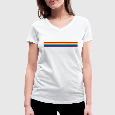 Gay Pride - Women's Organic V-Neck T-Shirt by Stanley & Stella