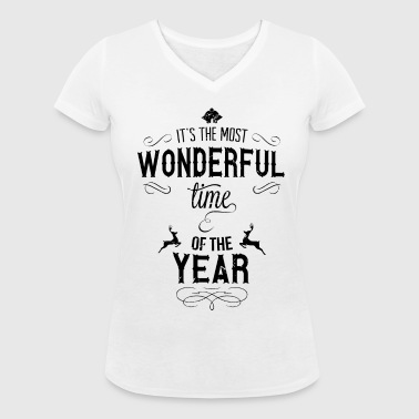 most_wonderful_time_of_the_year_b - Økologisk Stanley & Stella T-shirt med V-udskæring til damer