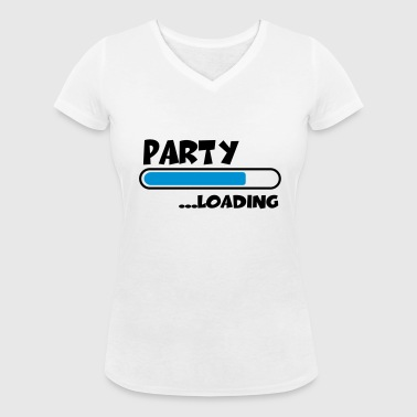 Party loading - Women's Organic V-Neck T-Shirt by Stanley & Stella