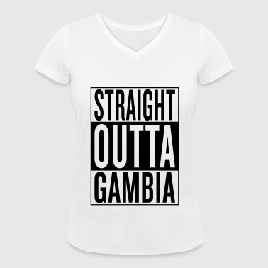 Gambia - Women's Organic V-Neck T-Shirt by Stanley & Stella