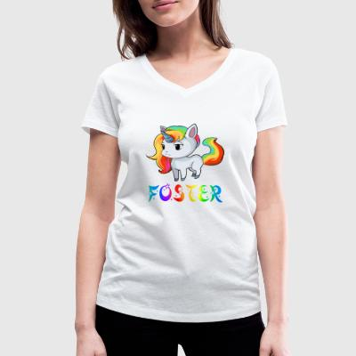 Unicorn Foster - Women's Organic V-Neck T-Shirt by Stanley & Stella