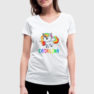Unicorn Catalina - Women's Organic V-Neck T-Shirt by Stanley & Stella