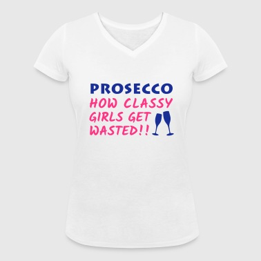 Prosecco for Classy Girls - Women's Organic V-Neck T-Shirt by Stanley & Stella