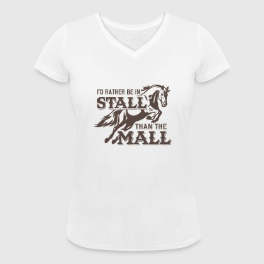 I'd rather be in Stall than the mall - Women's Organic V-Neck T-Shirt by Stanley & Stella