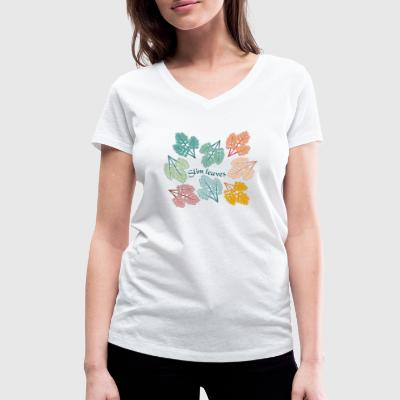Slim leaves - Women's Organic V-Neck T-Shirt by Stanley & Stella