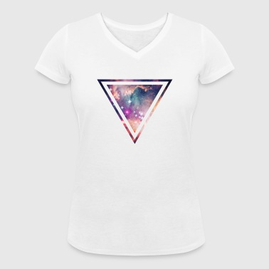 Galaxy - Space - Universe / Hipster Triangle - T-shirt bio col V Stanley & Stella Femme