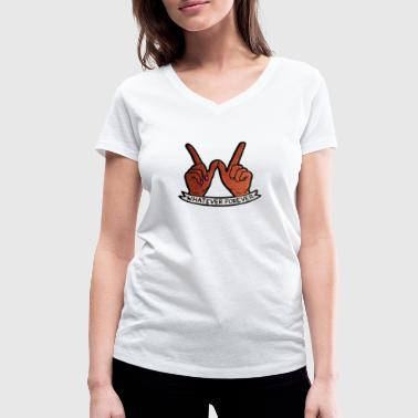 Whatever Hands - Women's Organic V-Neck T-Shirt by Stanley & Stella