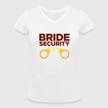 Security Team of the Bride - Women's Organic V-Neck T-Shirt by Stanley & Stella