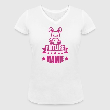 annonce grossesse future mamie - T-shirt bio col V Stanley & Stella Femme