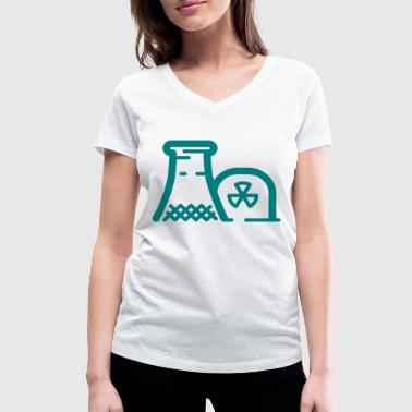 Nuclear power station - Women's Organic V-Neck T-Shirt by Stanley & Stella