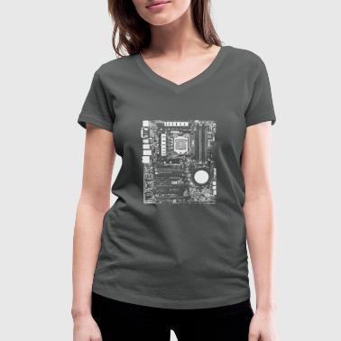Mainboard - Nerd & Geek Hardware - Women's Organic V-Neck T-Shirt by Stanley & Stella