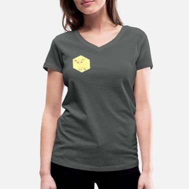 Exceptional Exceptional pig - Women's Organic V-Neck T-Shirt by Stanley & Stella