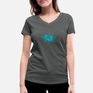 baseball - Women's Organic V-Neck T-Shirt