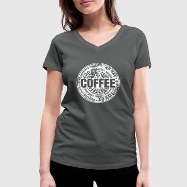 Coffee lover (worn-out) - T-shirt ecologica da donna con scollo a V di Stanley & Stella
