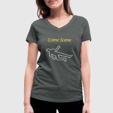 crime scene - Women's Organic V-Neck T-Shirt by Stanley & Stella