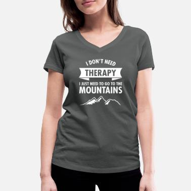 Montagne Therapy - Mountains - T-shirt bio col V Stanley & Stella Femme