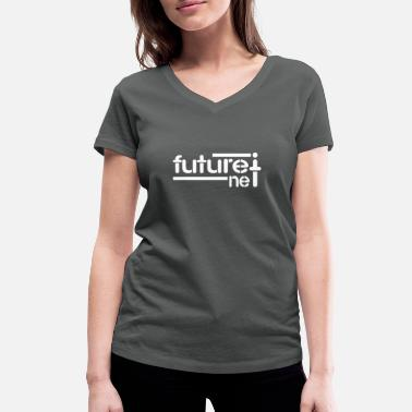 Net future net - Women's Organic V-Neck T-Shirt by Stanley & Stella