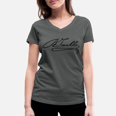 Benjamin Franklin Autograph of Benjamin Franklin - Women's Organic V-Neck T-Shirt by Stanley & Stella