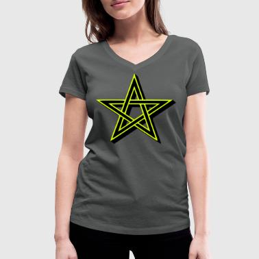 Pentagram - Women's Organic V-Neck T-Shirt by Stanley & Stella
