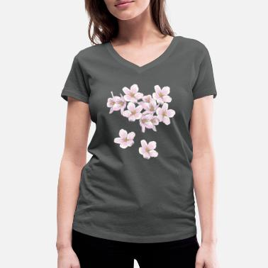 Cherry Blossom Cherry blossoms - Women's Organic V-Neck T-Shirt