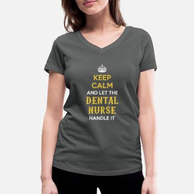 Ladies Keep Calm And Brush On Toothpaste Toothbrush Dentist Teeth T-Shirt Tee