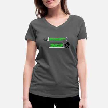 Pixel turning it off and on - Women's Organic V-Neck T-Shirt
