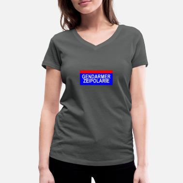 Gendarmerie Gendarmerie and police mingled in one word - Women's Organic V-Neck T-Shirt