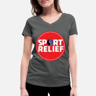 Relief SPORT RELIEF - Women's Organic V-Neck T-Shirt