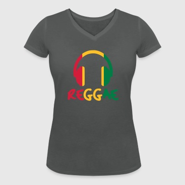 Reggae Music - Women's Organic V-Neck T-Shirt by Stanley & Stella