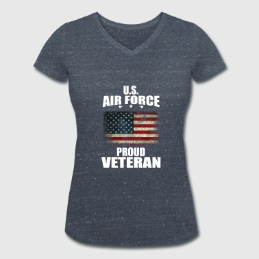 U.S. Air force Veteran - Women's Organic V-Neck T-Shirt by Stanley & Stella