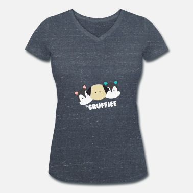 Groupie Groupies! Gift idea friends - Women's Organic V-Neck T-Shirt by Stanley & Stella