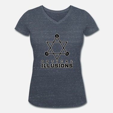 Optical Illusion Hypnosis Optical illusions - Women's Organic V-Neck T-Shirt by Stanley & Stella