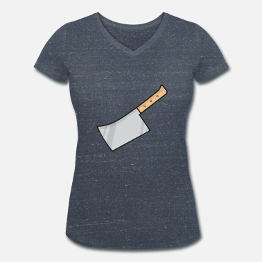 Knife meat knife - Women's Organic V-Neck T-Shirt