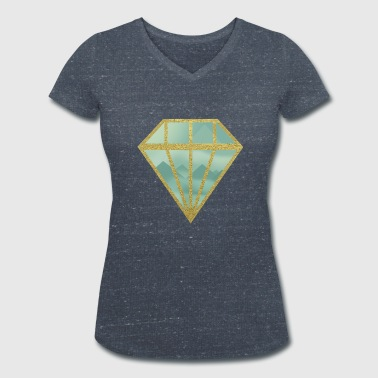Indie diamond - Women's Organic V-Neck T-Shirt by Stanley & Stella