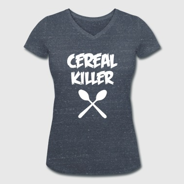 CEREAL KILLER - Women's Organic V-Neck T-Shirt by Stanley & Stella