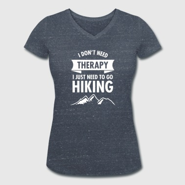 I Don't Need Therapy - I Just Need To Go Hiking - Vrouwen bio T-shirt met V-hals van Stanley & Stella