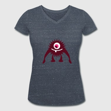 little one-eyed monster  - Women's Organic V-Neck T-Shirt by Stanley & Stella