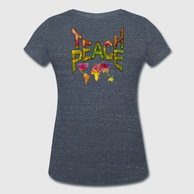 Teach Peace - Women's Organic V-Neck T-Shirt by Stanley & Stella