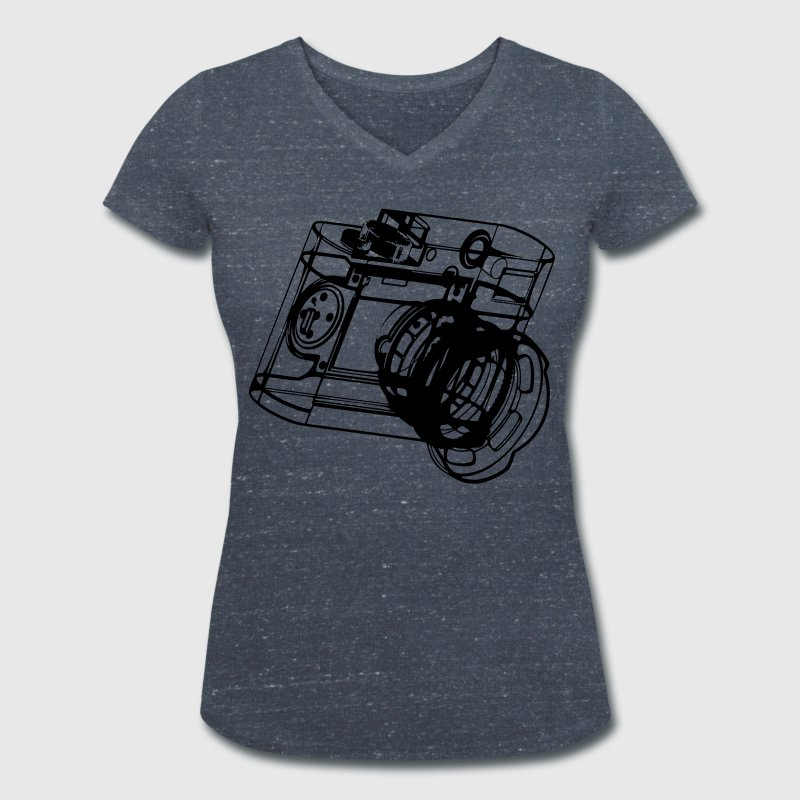 Camera - Women's Organic V-Neck T-Shirt by Stanley & Stella