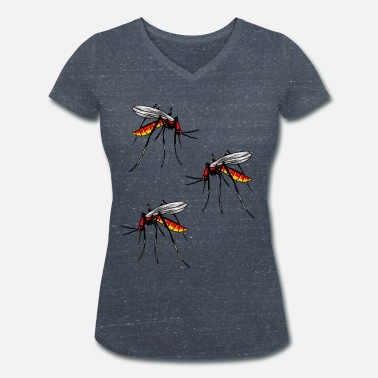 Insect Mosquito insects insect mosquito mosquitoes animals - Women's Organic V-Neck T-Shirt