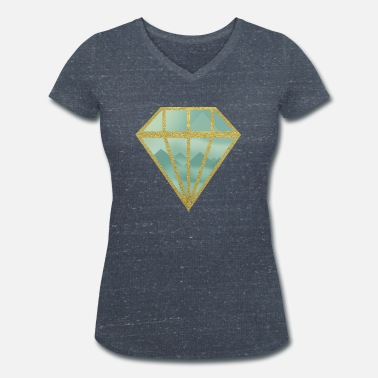 Indie Indie diamond - Women's Organic V-Neck T-Shirt