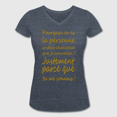 question de chance - T-shirt bio col V Stanley & Stella Femme