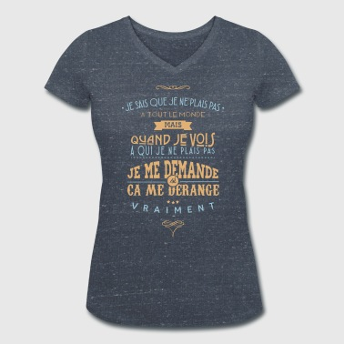 Citations made in Belgique - T-shirt bio col V Stanley & Stella Femme