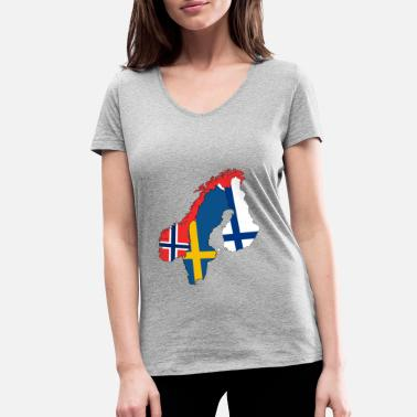Countries Nordic country - Women's Organic V-Neck T-Shirt by Stanley & Stella