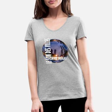 Sound Clothing The Sound Of Cities: world - Women's Organic V-Neck T-Shirt by Stanley & Stella